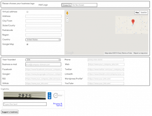 Business Directory Community AddOn Add a Business Form